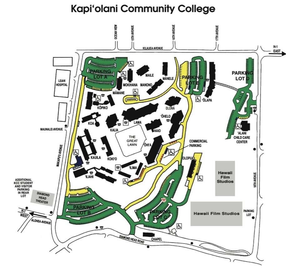 Kcc Campus Map Getting to the Start   The Hapalua : The Hapalua Kcc Campus Map