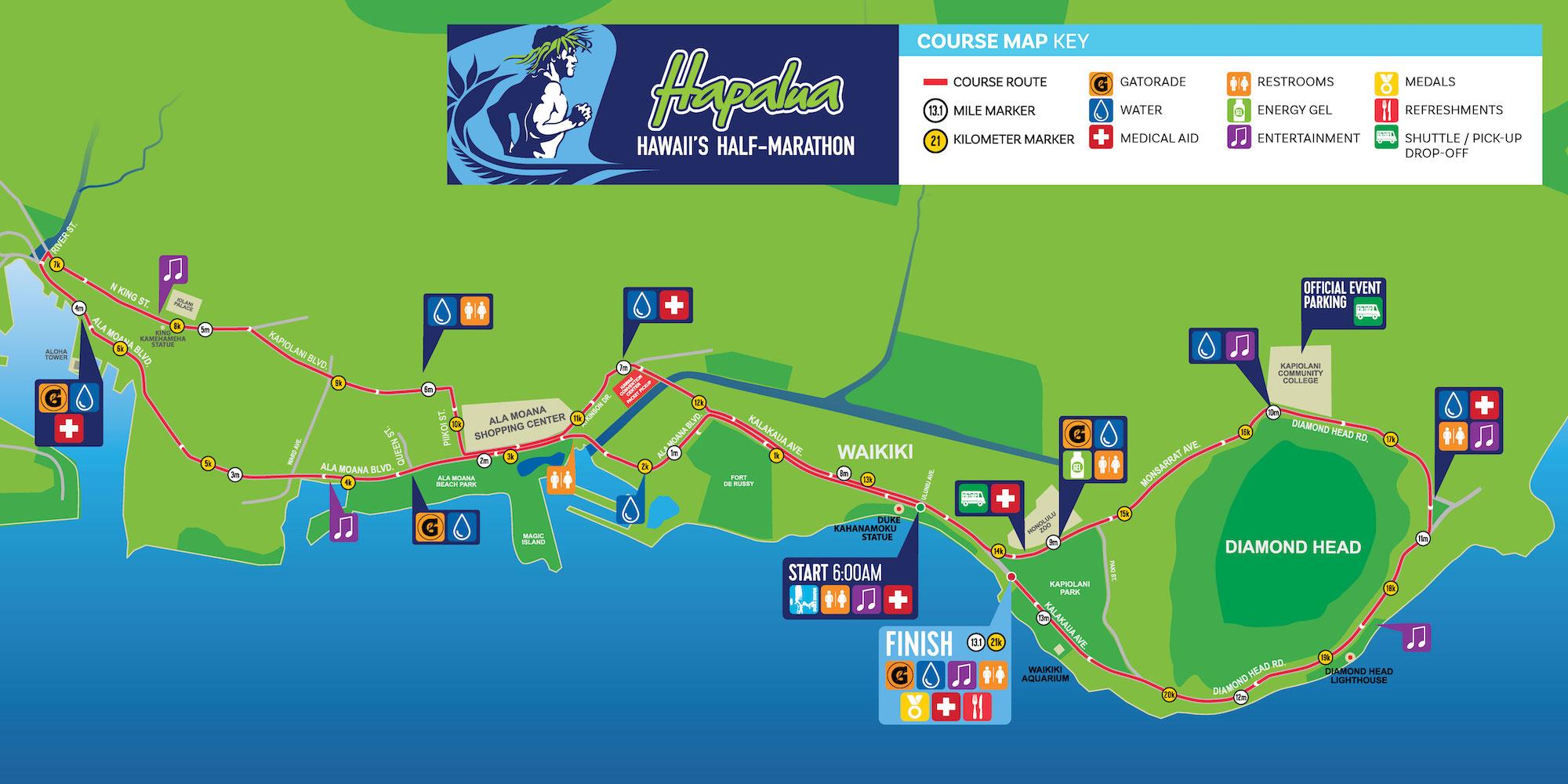 image about Printable Map of Waikiki identify Program Description - The Hapalua : The Hapalua